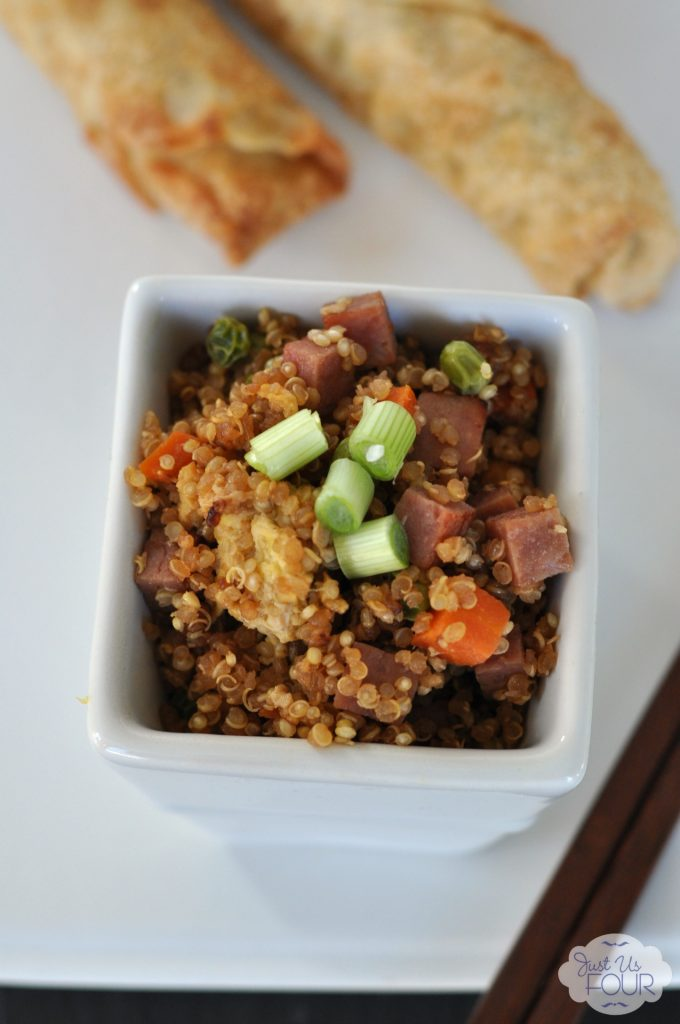 Amazing fried rice taste in this gluten free ham and vegetable fried quinoa