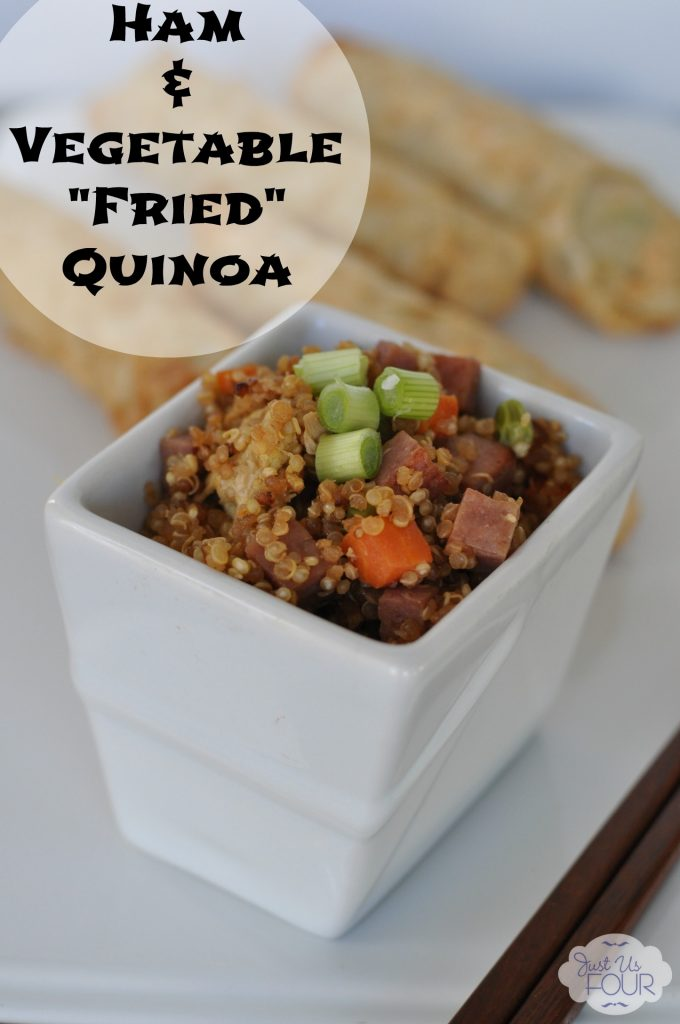 Delicious Ham and Vegetable Fried Quinoa