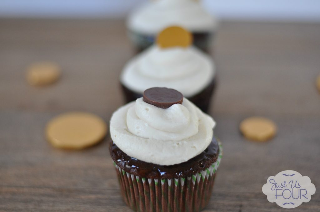 Irish Coffee Cupcakes with Whipped Cream Frosting - Just Us Four