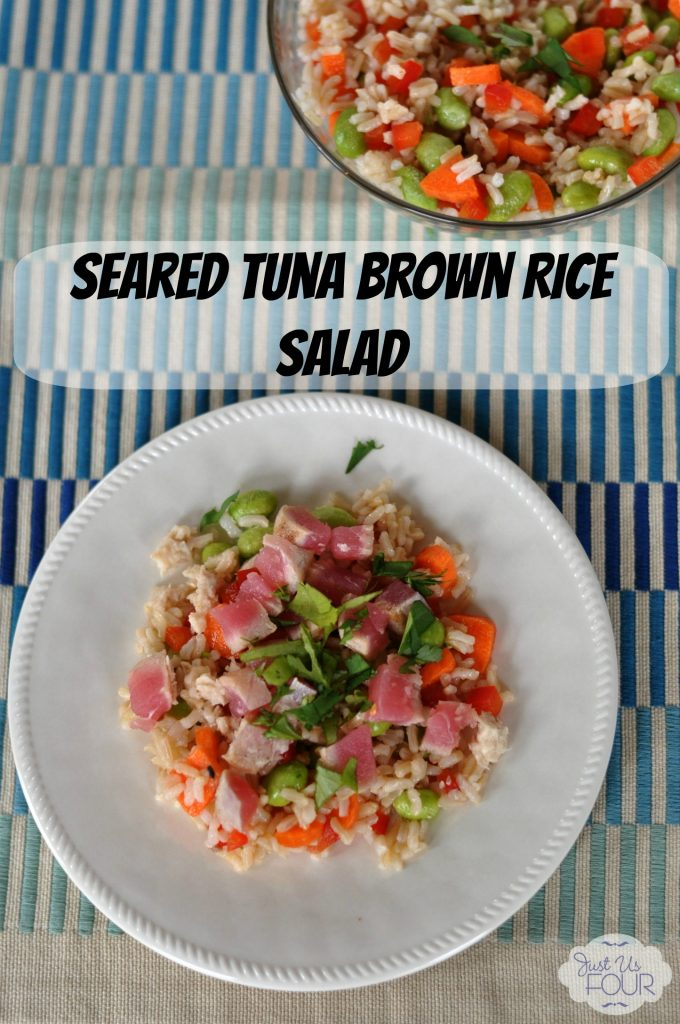 Brown Rice Salad with Seared Tuna #recipes #salads