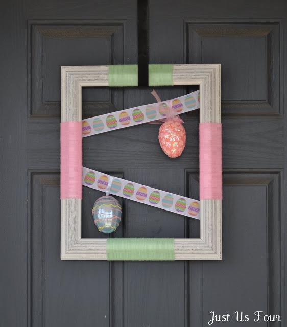 Easter Egg Frame Wreath