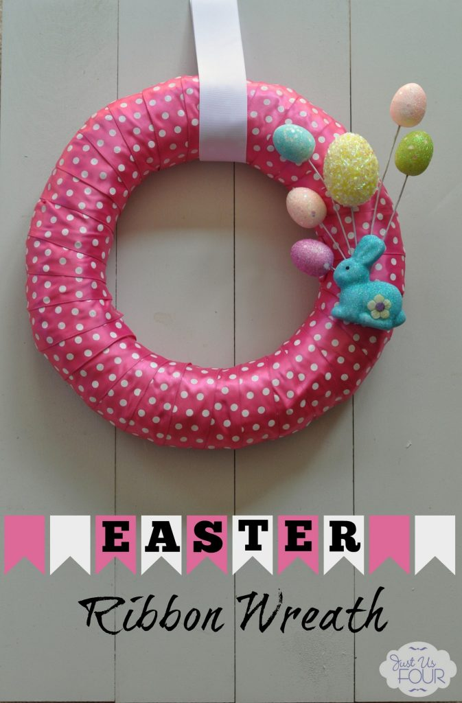 Easter Ribbon Wreath #crafts #Easter #wreaths