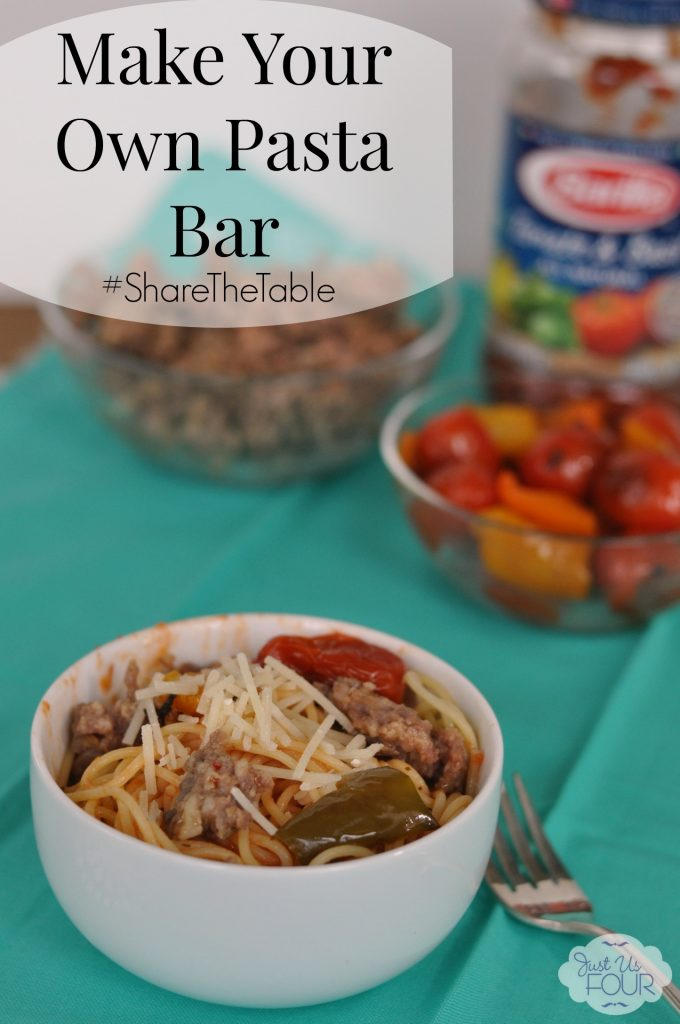 Make Your Own Pasta Bar #ShareTheTable #pasta #recipes #ad