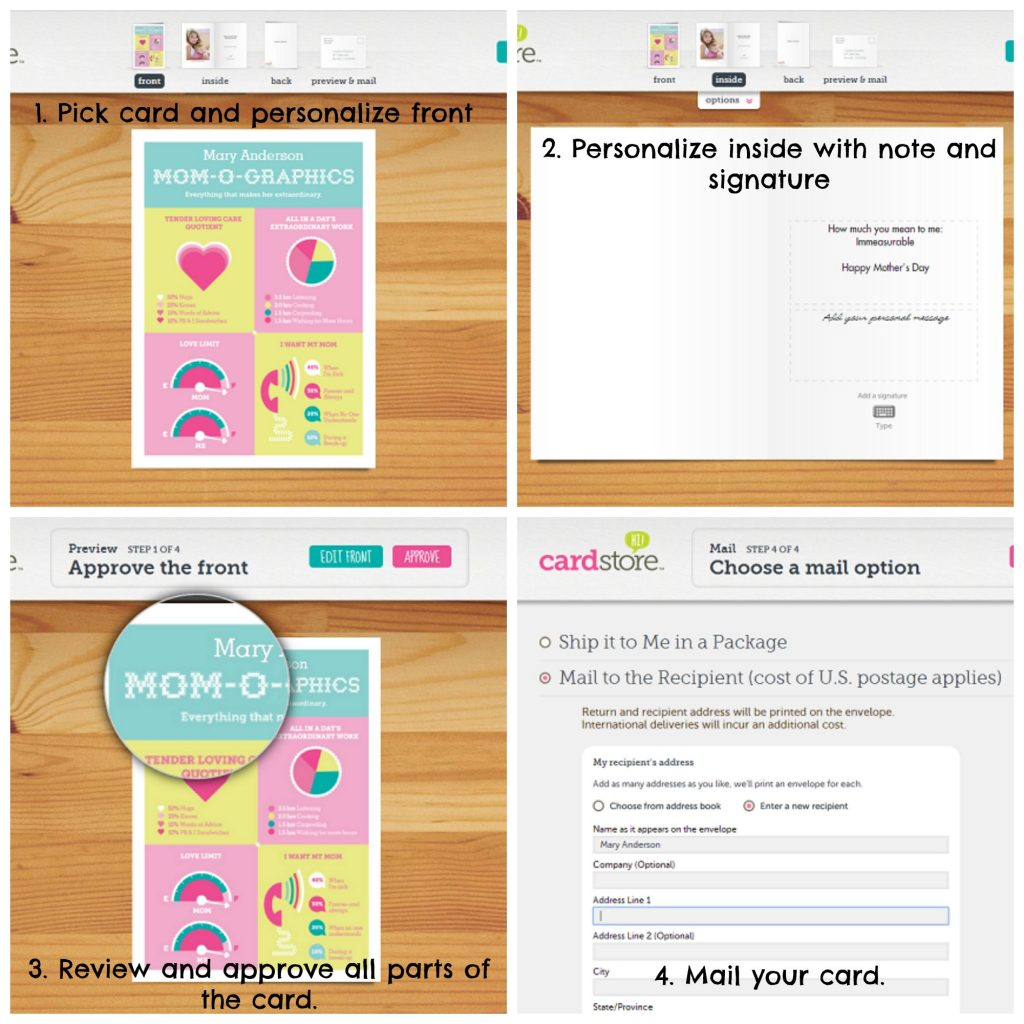 cardstore ordering collage