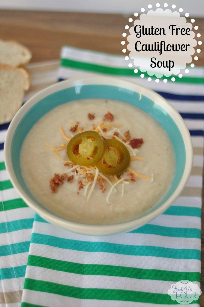 Gluten Free Loaded Cauliflower Soup #recipes #glutenfree