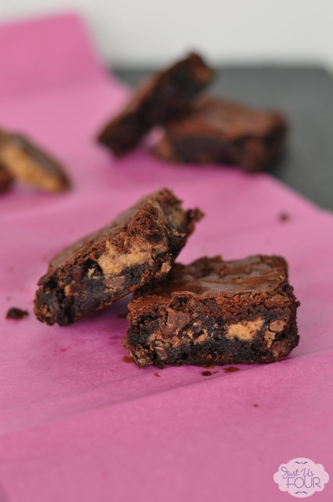 Peanut Butter Nutella Brownies #desserts #recipes #nutella