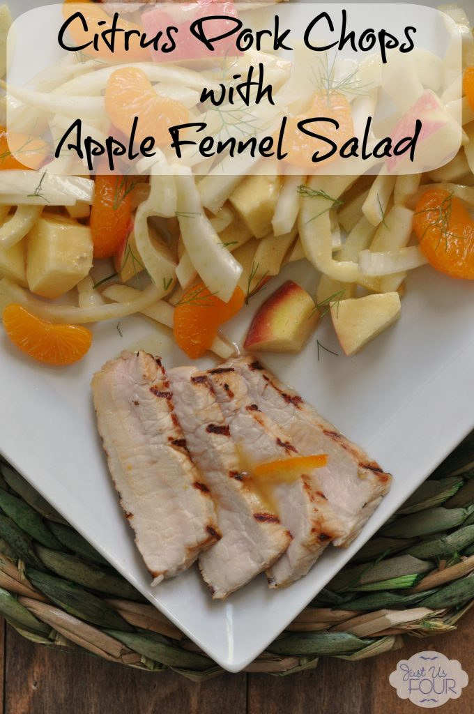 Citrus Pork Chops with Apple, Orange and Fennel Salad #creativebias #recipe #spon