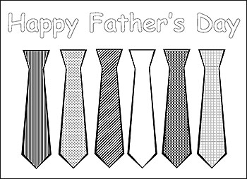07 - Frugal Living Mom - Father's Day Coloring Page