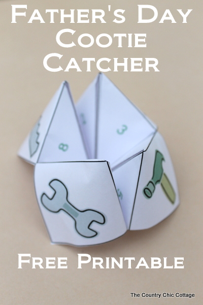 15 - Country Chic Cottage - Father's Day Cootie Catcher