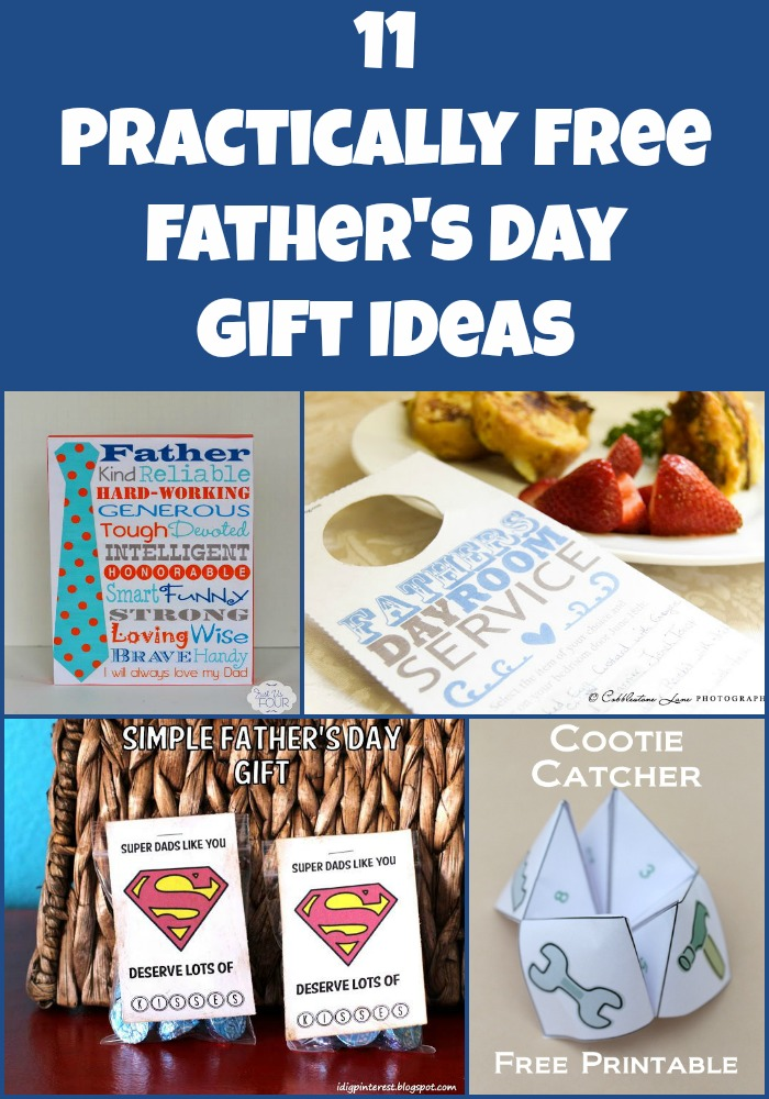 11 Almost Free Father's Day Gift Ideas #fathersday