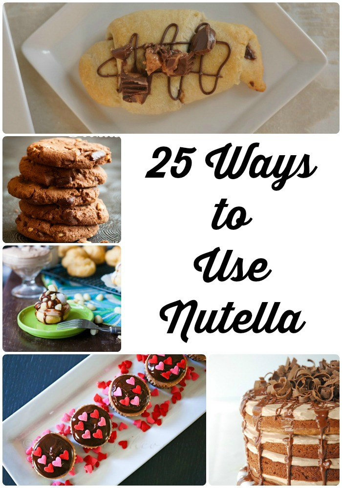 25 Amazing recipes using Nutella #recipes #desserts