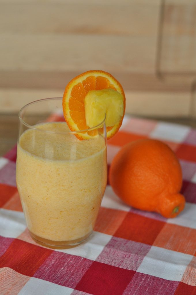 Citrus Vanilla Breakfast Smoothie #BreakfastEssentials #PMedia #Ad