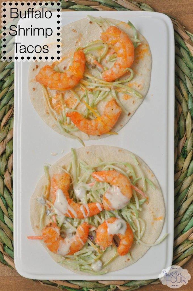 Quick and easy to make, these buffalo shrimp tacos would make such a perfect dinner option!