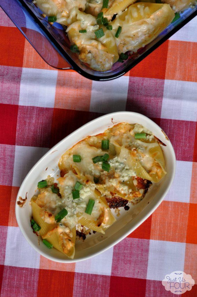 Freezer friendly and delicious - Buffalo Chicken Stuffed Shells #shannahstestkitchen #recipes