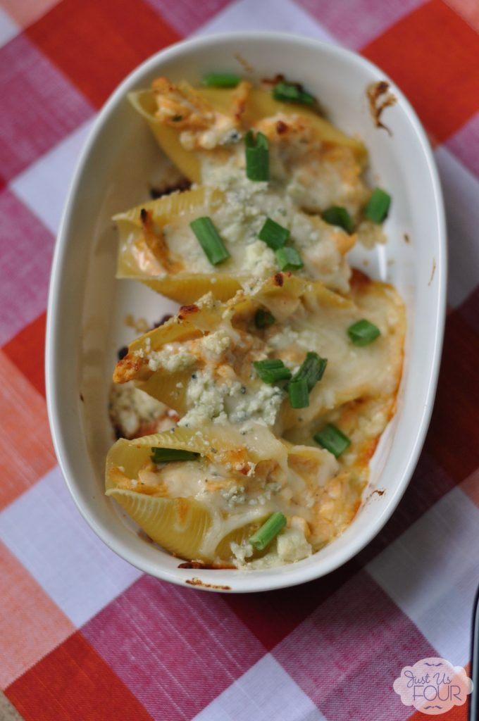 Buffalo Chicken Stuffed Shells #recipes #shannahstestkitchen