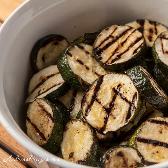 Recipes for the Grill - 05 - Andreas Recipes - Grilled Zucchini with Herb Marinade