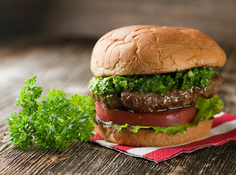Recipes for the Grill - 09 - Framed Cooks - Chimichurri Burger