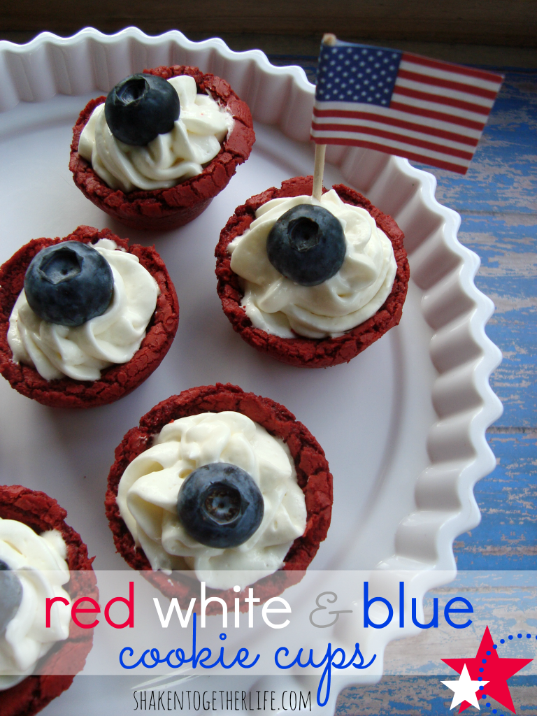 10 - Shaken Together - Red White and Blue Cookie Cups