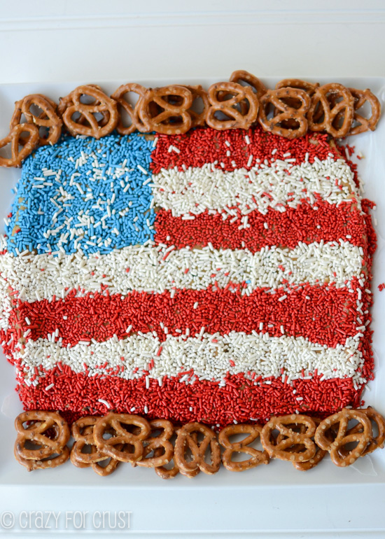 12 - Crazy for Crust - Peanut Butter American Flag Dip