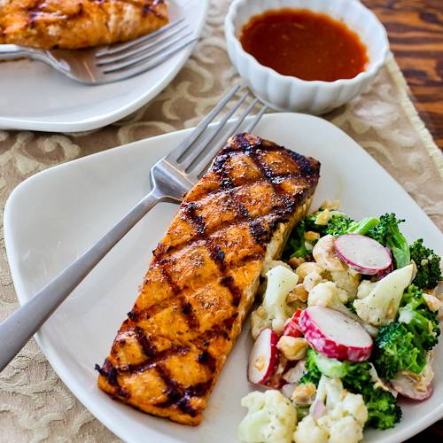 Recipes for the Grill - 14 - Kalyns Kitchen - Grilled Salmon