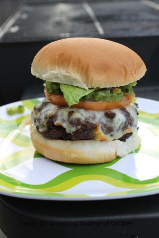 Recipes for the Grill - 20 - Fantastical Sharing - Green Chile Cheeseburger