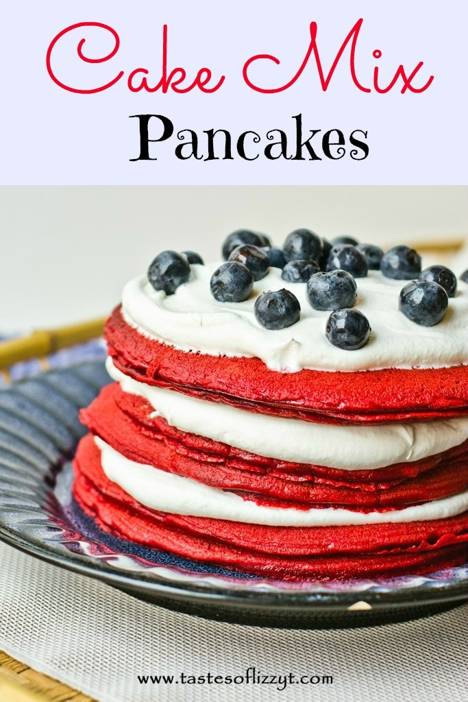 24 - Tastes of Lizzy T - Cake Mix Patriotic Pancakes