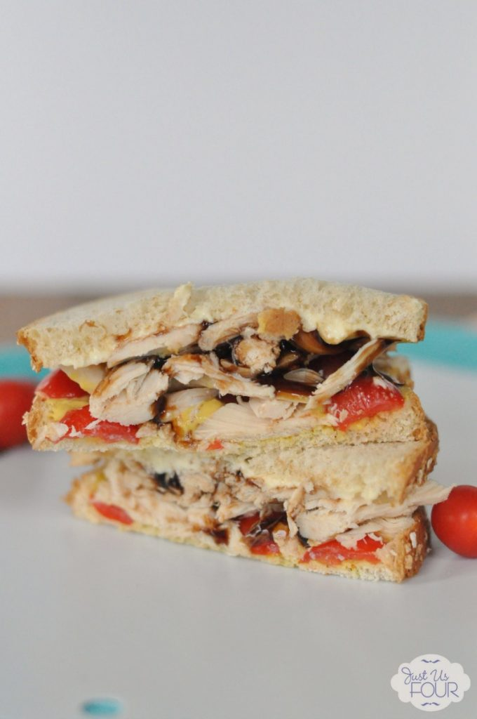 This balsamic chicken sandwich is an awesome idea for a picnic or other lunch event.