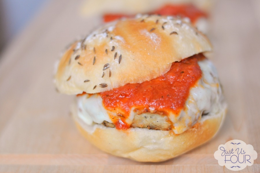 Skip the Italian restaurant and make chicken Parmesan burgers at home!