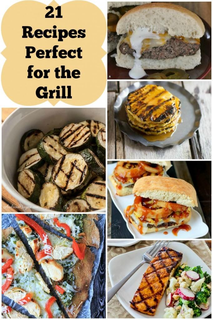 We love cooking on the grill and these 21 recipes are the perfect inspiration for this week's menu!