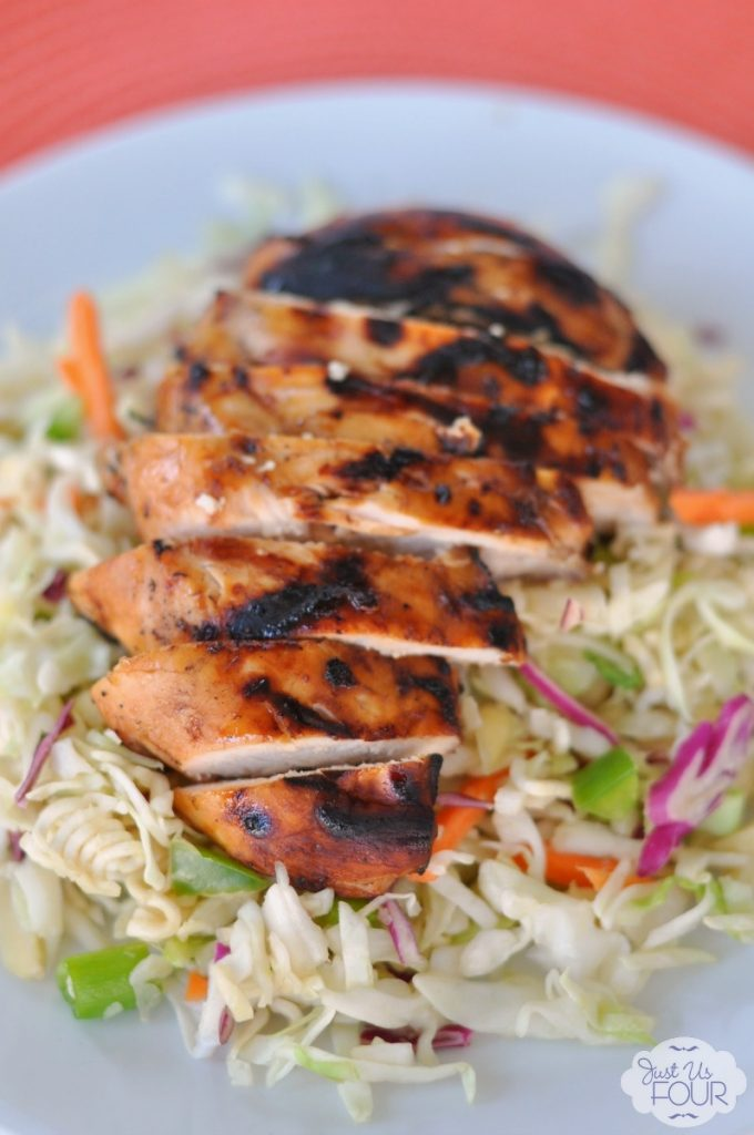 Sticky chicken is the perfect topping for a salad! #BackyardBash #cbias #shop
