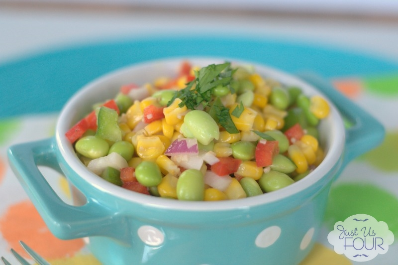 Love her idea to combine these vegetables with a lemon based dressing for a succotash style salad.
