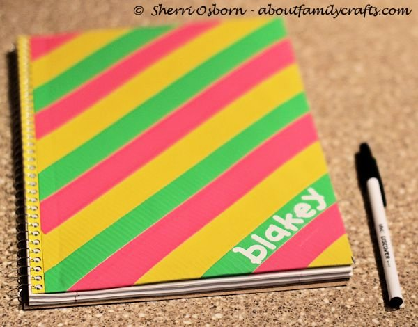 04 - About Family Crafts - Duct Tape Notebook