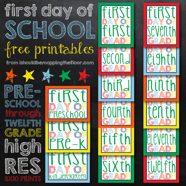 04 - I Should Be Mopping the Floor - Back to School First Day Printables