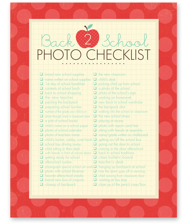 08 - Simple As That - Back to School Photo Checklist