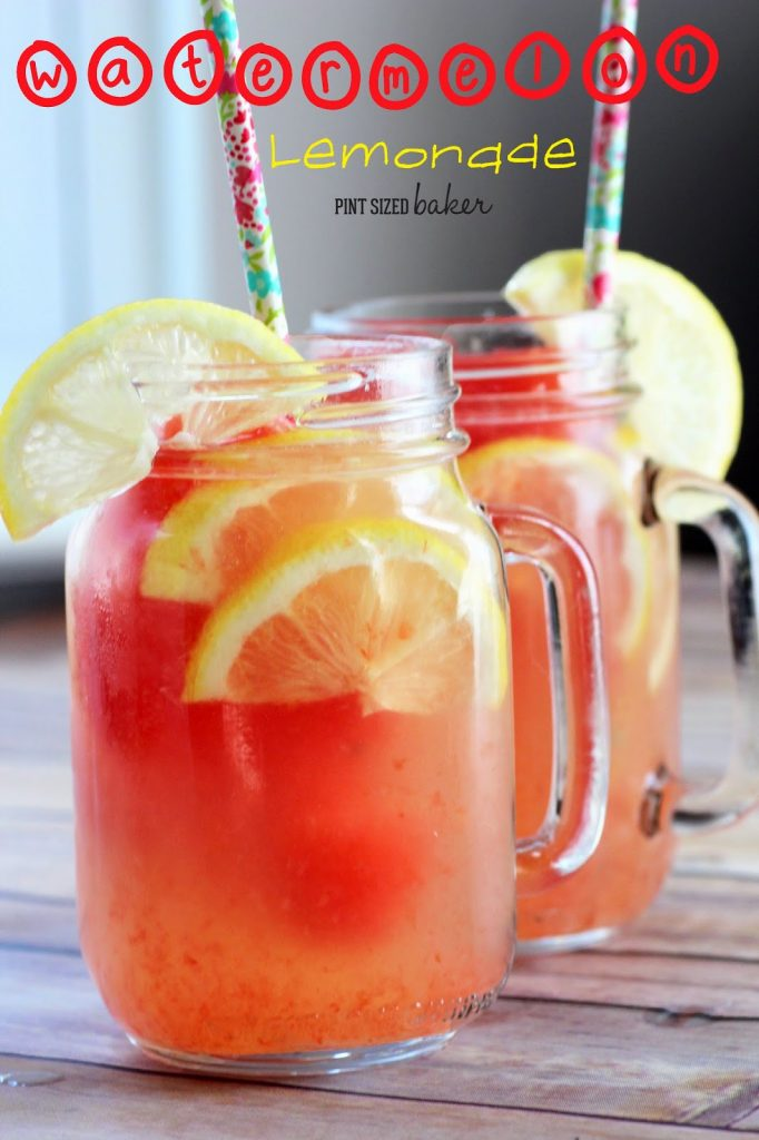 1 ps Lemonade with Watermelon Ice Cubes (20)