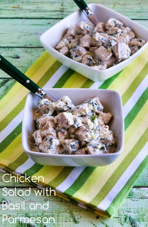 12 - Kalyn's Kitchen - Chicken Salad with basil and Parmesan