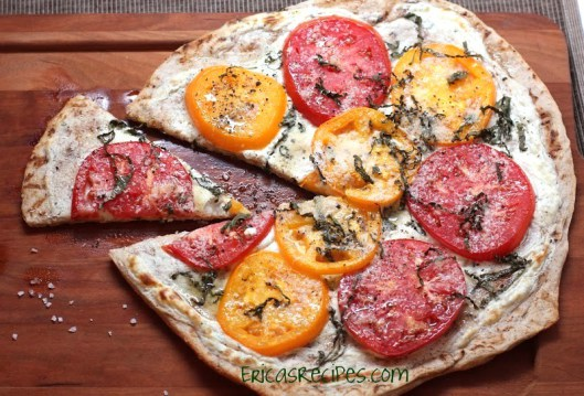 13 - Erica's Recipes - Tomato Basil Boursin Pizza