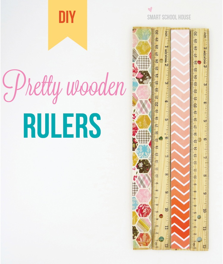18 - Smart School House - Pretty Wooden Rulers