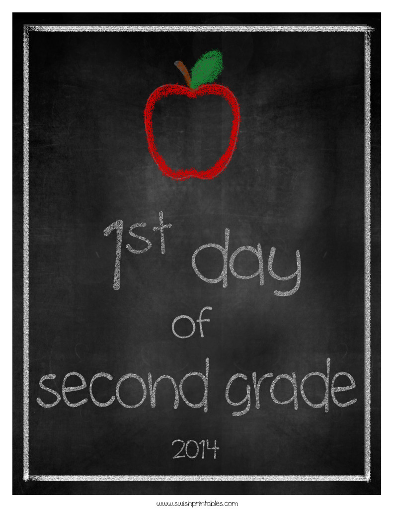 18 - Swish Printables - First Day of School Printable