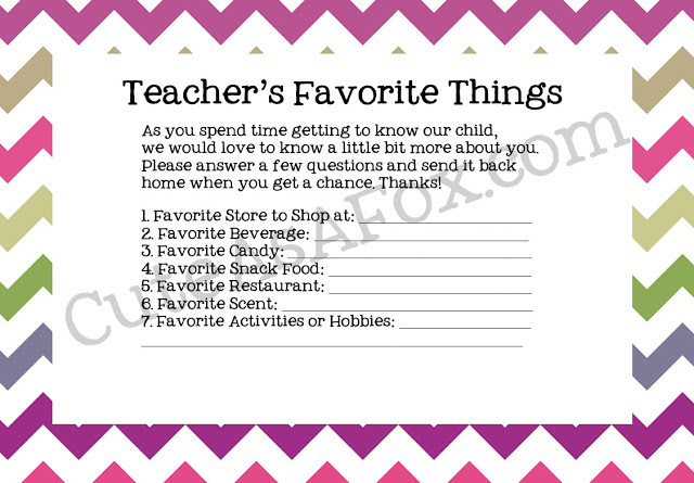 19 - Cute as Fox - Teacher Favorite THings