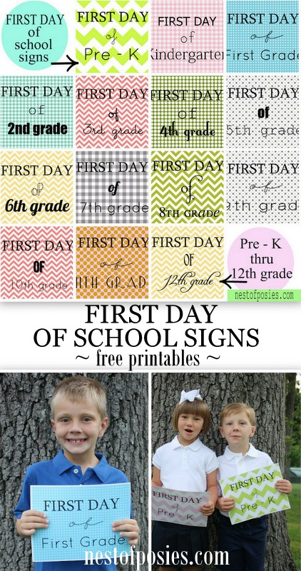 19 - Nest of Posies - Patterned Back to School Printables
