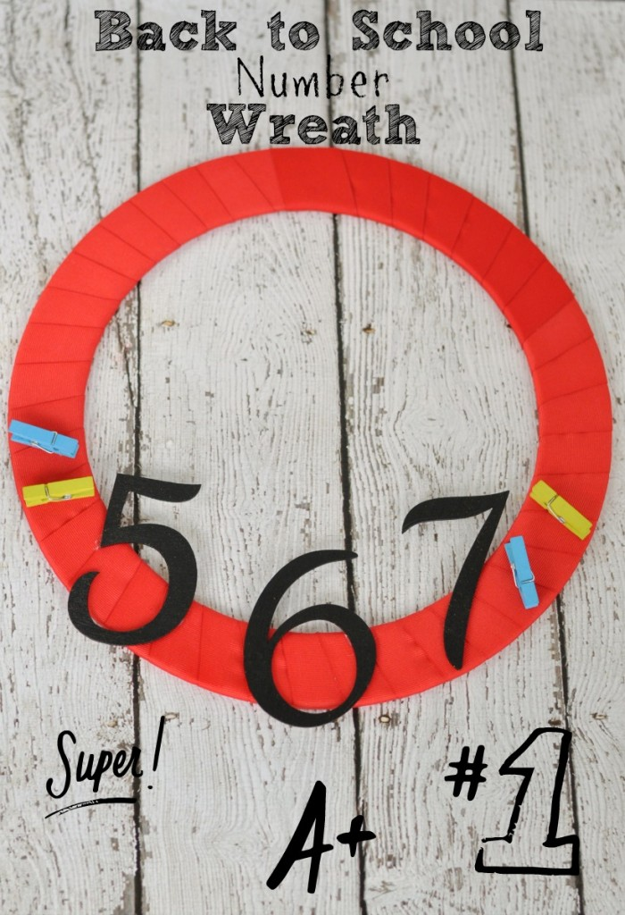 Easy and super cute back to school wreath with glossy numbers! #CreativeBuzz