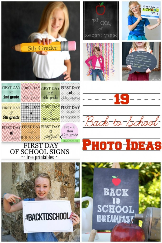 19 Ideas and Printables for Back to School Photos