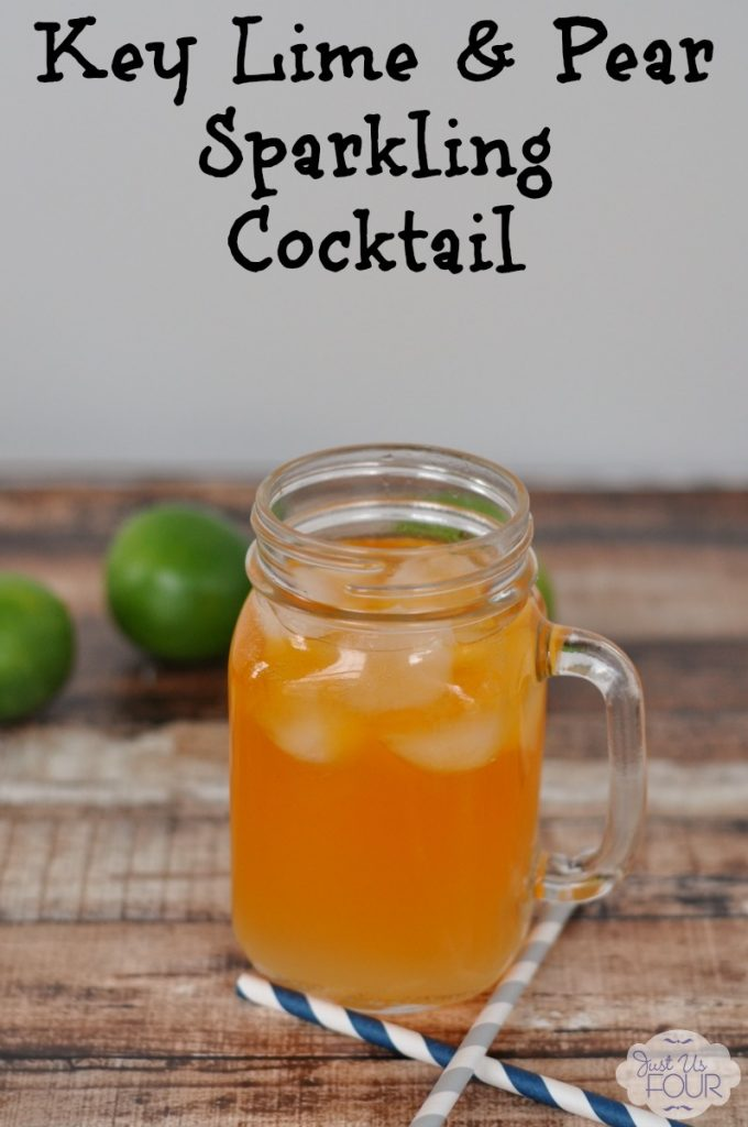 A refreshing key lime cocktail with a hint of pear and ginger.