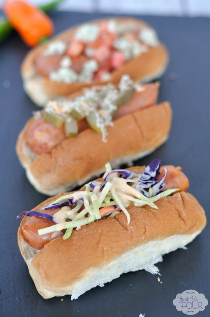 This is a great idea to top yummy, grilled sausages with different toppings! #StartYourGrill #shop