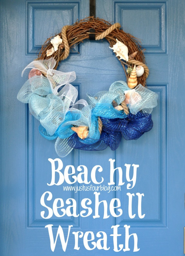 Bring the beach home with a few craft store supplies and a beachy seashell wreath.