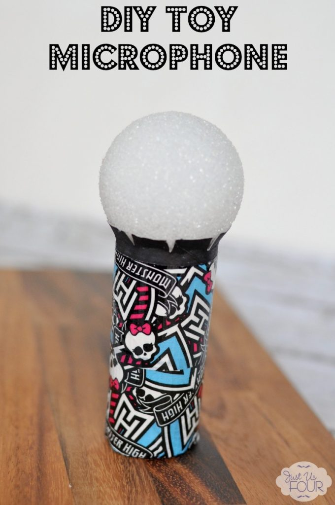 A fun and cute diy toy microphone that costs less than $5 to make!