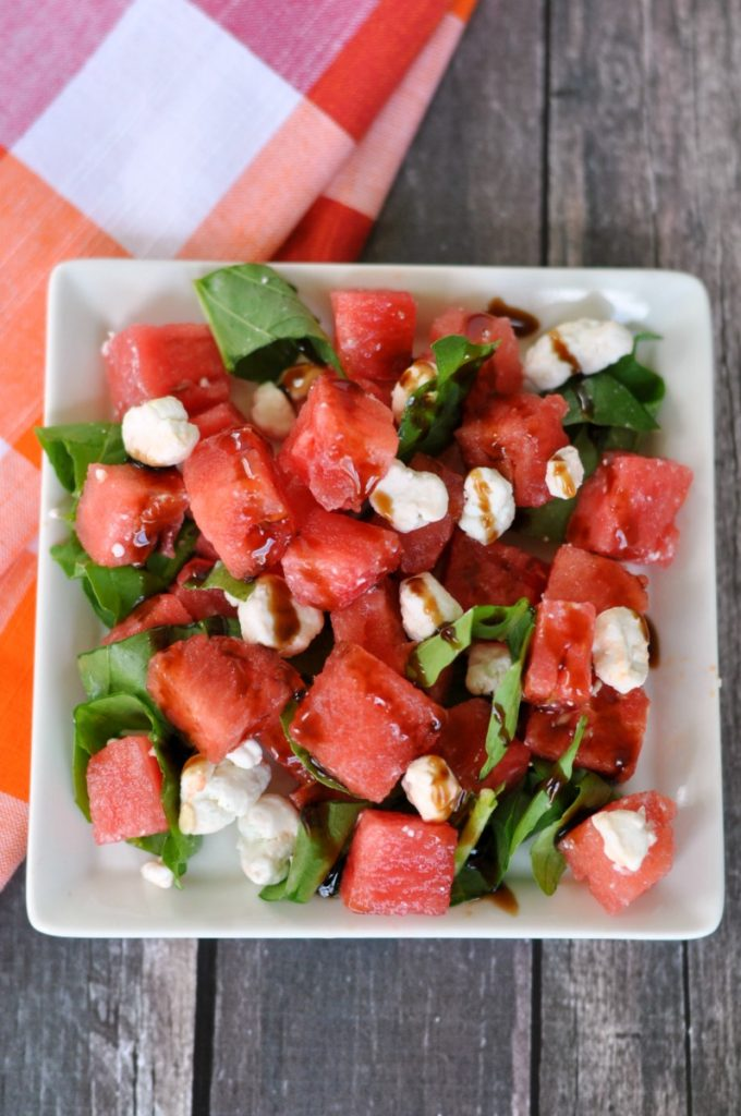 This salad is such a delicious way to enjoy one of our favorite summer fruits: watermelon!