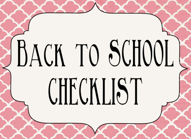 05 - Classy Clutter - Back to School Checklist