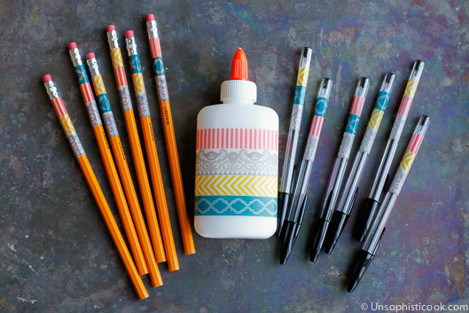 07 - Unsophisticook - Washi Tape School Supplies